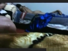 Latina has wild sex in various positions on the bed and moans