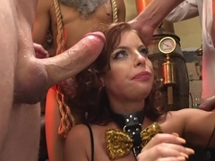 Britney Amber gets jam packed by horny filthy circus performers!