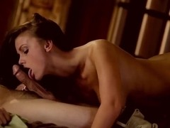 Beautiful brunette Whitney Westgate is having passionate gentle fuck with her boyfriend at her hom.