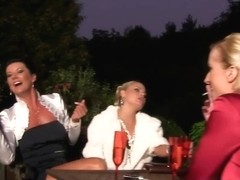 Glam piss loving euro railed from behind