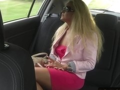 Doggystyled auditioned eurobabe fucked at car