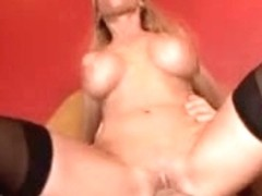Blonde mother I'd like to fuck rocks a large pecker