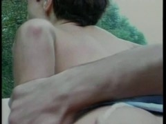 Short haired brunette hair acquires her taut twat licked and screwed from behind