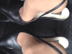 Pedal play with classy slingback pumps
