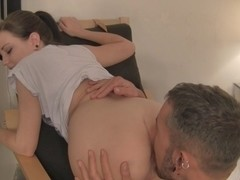 Brandi Belle in amateur video of a hot chick sucking and humping