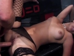 Whore Dani Woodward gets nailed and facialezed