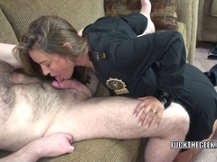 Mature swinger Leeanna Heart is fucking a lucky geek