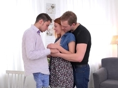 Sell Your GF - Fucked on her boyfriend's lap