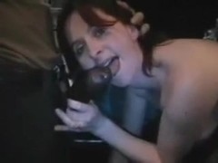 Theater Slut Takes BBC and Semen