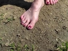 NEW ! - Penny's Slightly Dirty Soles Define Her Arches