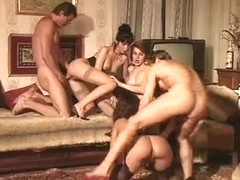 One big cock and two hot vintage sluts having fun