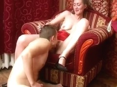 This Babe desires her teats sucked, and doggy on a chair