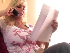 one sexy mother i'd like to fuck talking on the phone & playing