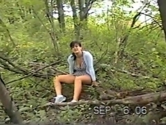 Sd - milf colette wants to take a break in the forest