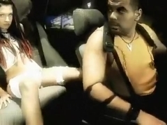 So sexy puerrorrican brunette make sex fun in back seat wagon in the garage