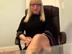 Blonde Secretary Feet Tease