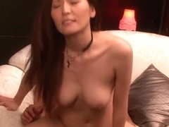 Kinky Jap gal tames two steely dongs