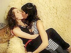 Serbian girlfriends make out session