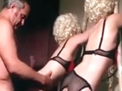 Crazy Oldy, Threesome porn clip