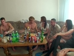 Dana & Janet & Kristene & Sonja in orgy movie featuring lots of voluptuous vixens