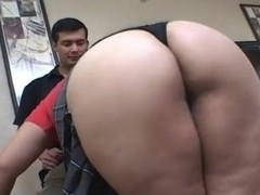 Chubby Asian Milf fucked by 2 men
