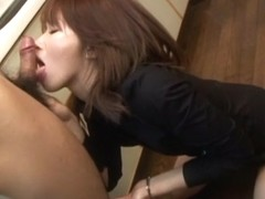 Exotic Japanese model in Horny JAV uncensored Blowjob clip