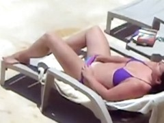 masturbating by the pool