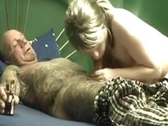 using sirop to learn her how to engulf penis properly