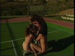 A Tennis Lesson Turns Into A hawt Three-Some