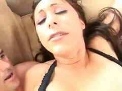 Busty Latina whore gets an anal creampie