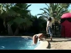 Wench Acquires Detest Screwed by Her Poolboy (GZH)