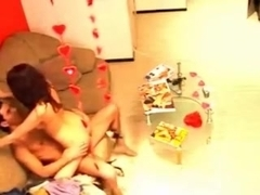 Hot couple gets cought on hidden cam