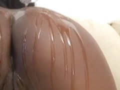 Huge Black Ass Covered In Glistening Oil