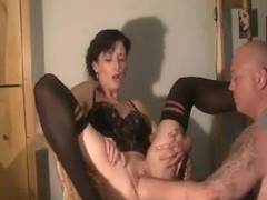 Brutally fist drilled housewife has her cum-hole destroyed
