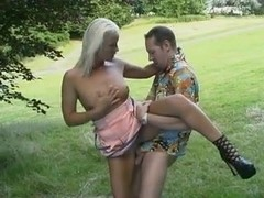 Beauty German girl Blonde Awesome Outdoor Sex