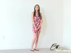 Maddi Squirts and Gags on Cum at Calendar Audition