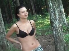 Tess in cute chick gives deep blowjob and gets fucked