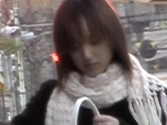 Kinky voyeur hunt with Asian sweetie getting involved in sharking action