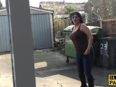 British milf throatfucked and pussy pounded