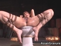 Cute asian babe in bondage sex gets part3