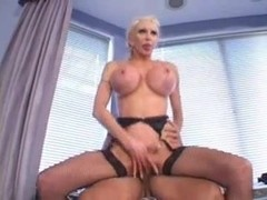 Mature plastic SexBabe fucks a guy