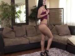 Solo Ebony Girl fingers her perfect pussy