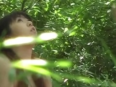 Japanese girl stripped nude and touched in the woods
