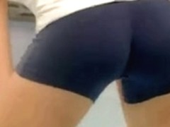 Playing volleyball with a taut shorts - Part 1 of two