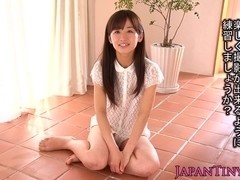 Tiny squirting asian Rimu Sasahara facialized