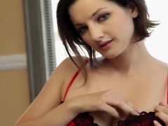 Hottest pornstars Eden Young and Krissy Lynn in exotic blowjob, brunette adult movie