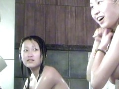 Real Asian cutie with the body in soap on spy camera dvd 03034