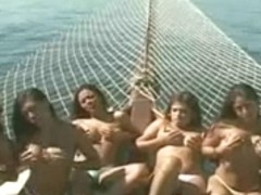 Sexy sex on boat
