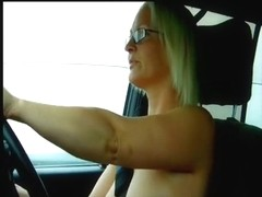 My Britain big tittied babe solo girl driving a car