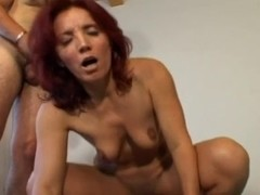 Redhead mother I'd like to fuck and two youthful knobs
